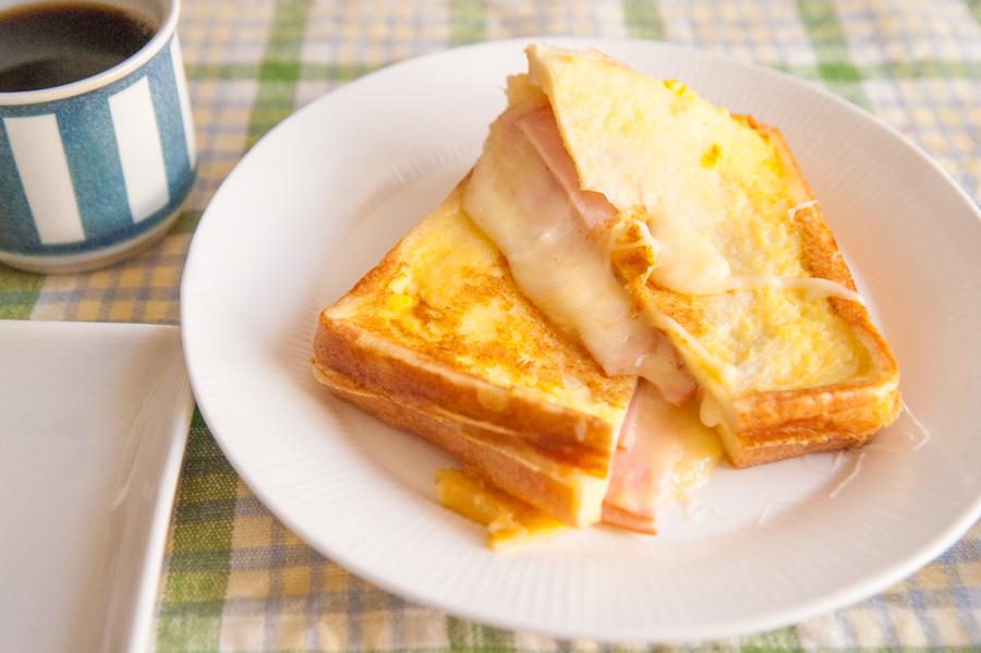 ハムとたっぷりチーズのクロックムッシュ